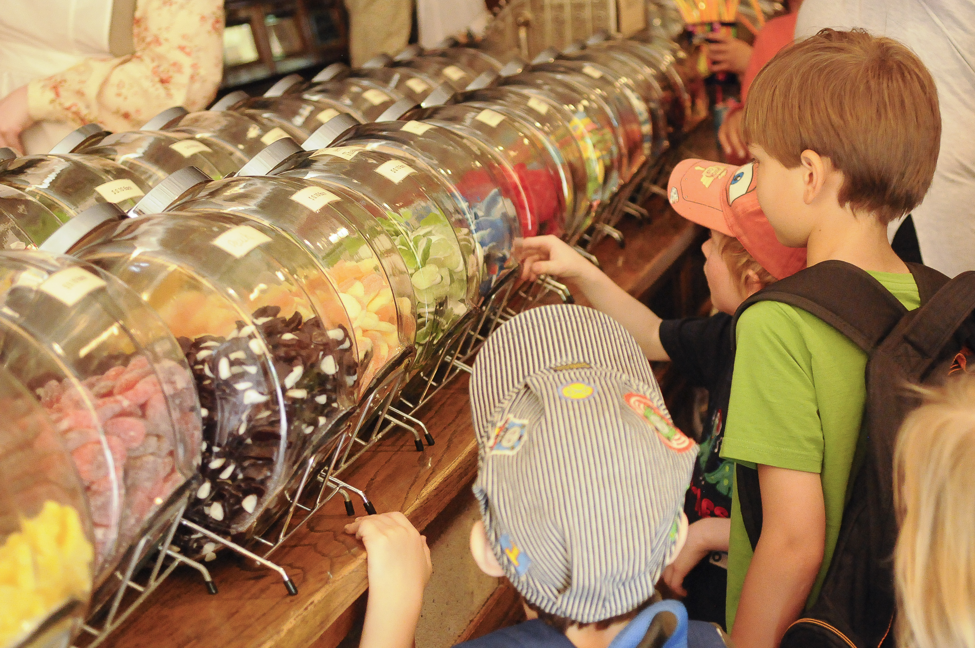Kids at Heritage Park Candy Store
