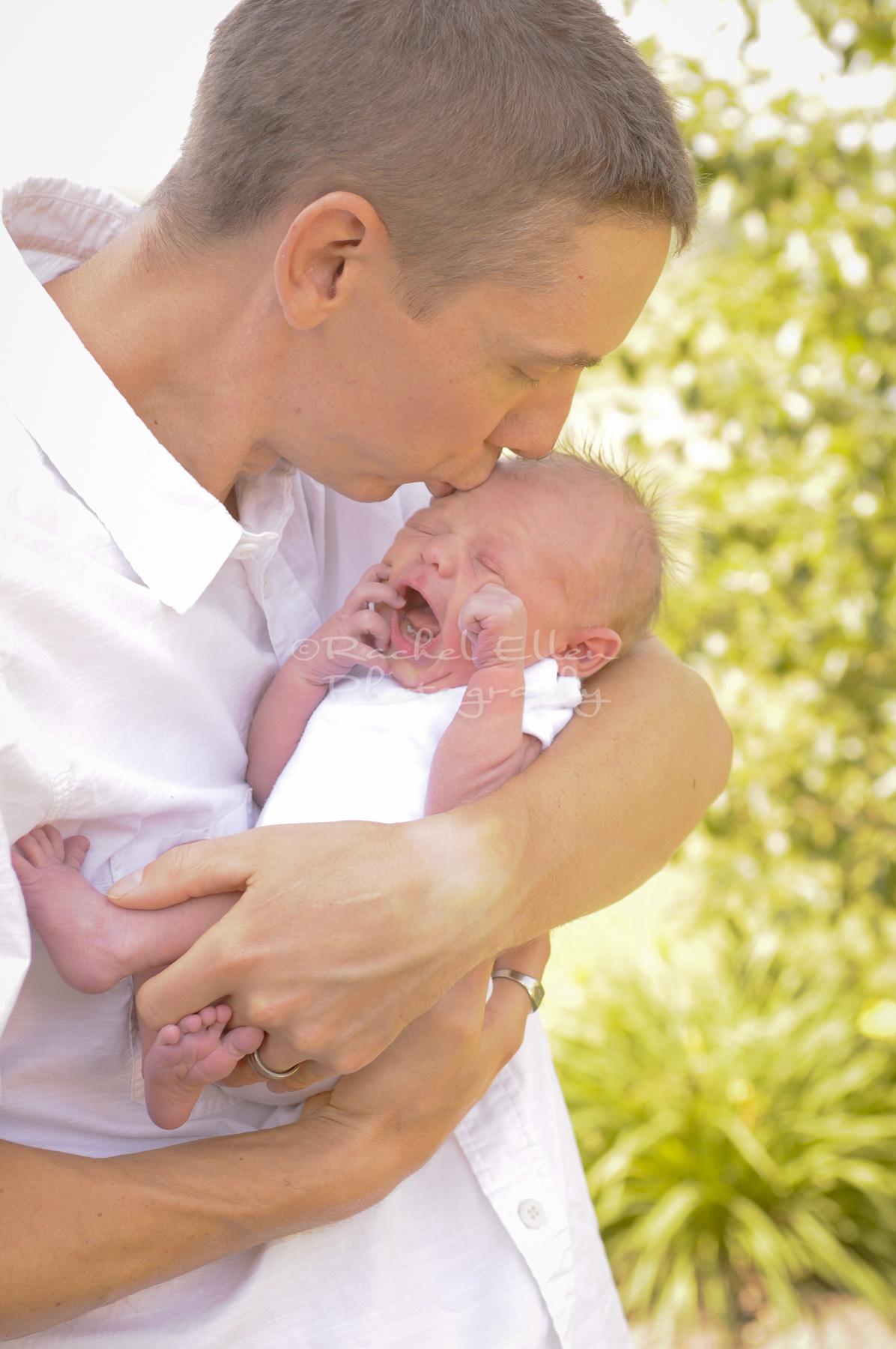 Father Son Newborn Portraits