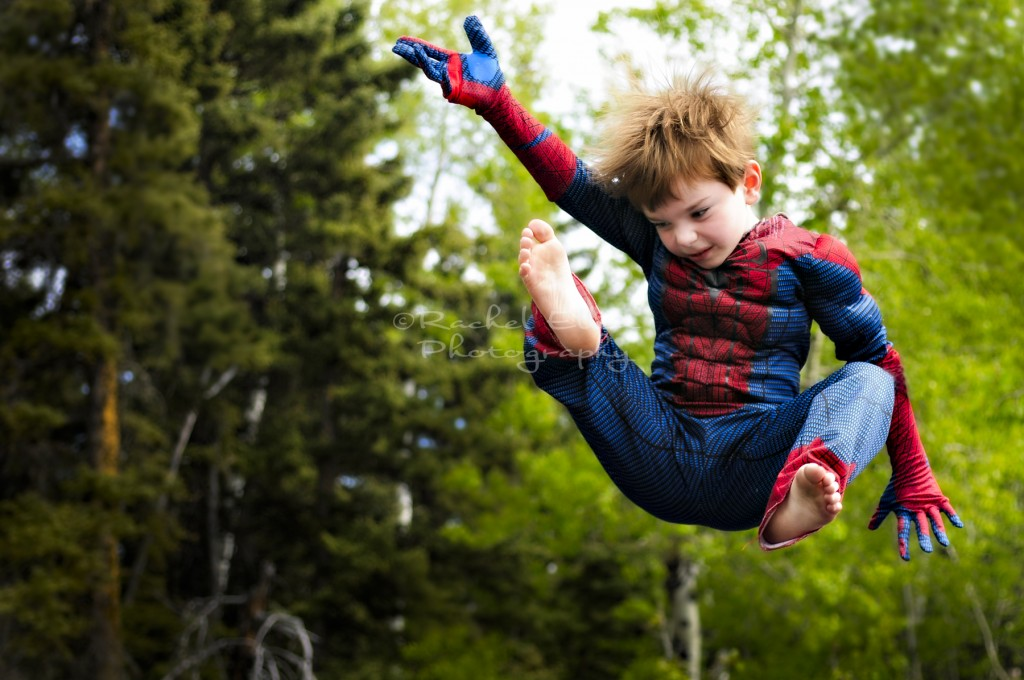 child being Spider-Man