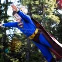 child pretending to be Superman