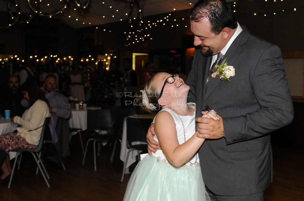 father and daughter dance at  Millarville Wedding