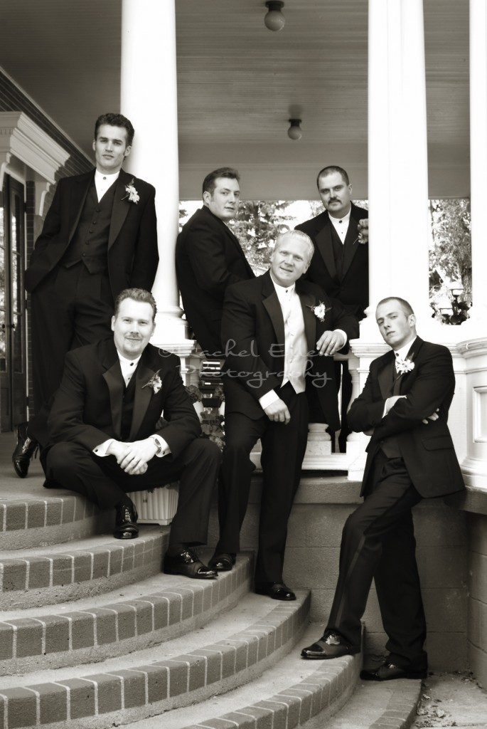 Groomsmen at McGrath Mansion
