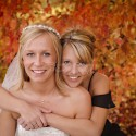Bride and sister portrait