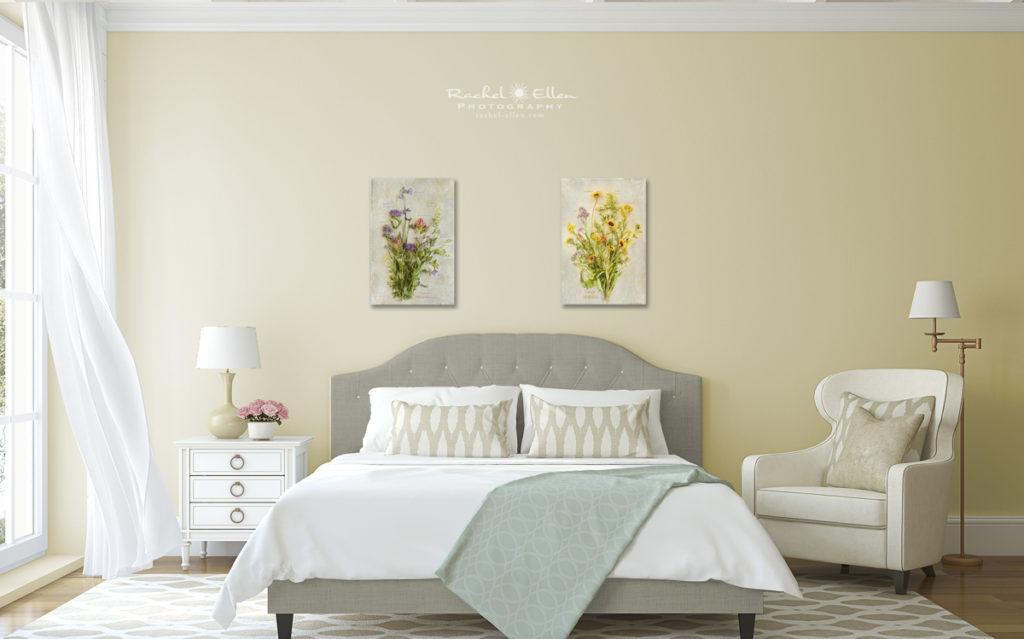 Wildflower Botanical Prints on Display
